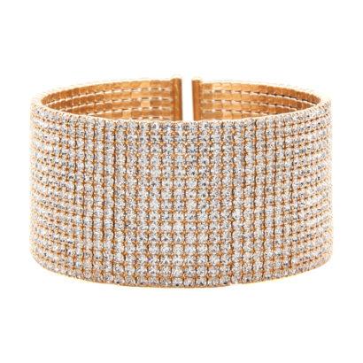 Gilded Crystal Large Cuff Bracelet