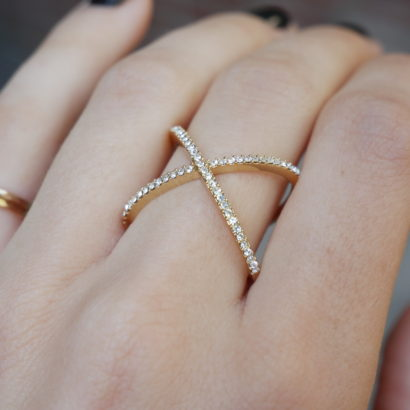 Infinity ring in gold by KTCollection