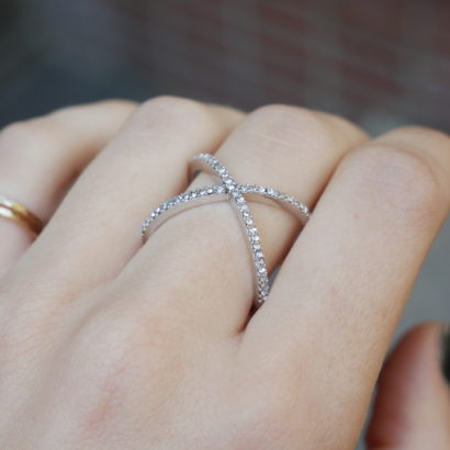 Infinity ring in silver by KTCollection