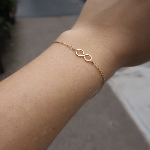 Infinity Bracelet in Gold by KTCollection Handmade Jewelry NYC