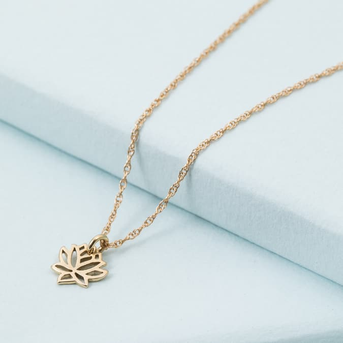983c4ac620822d 14K Lotus Flower Necklace – KTCollection