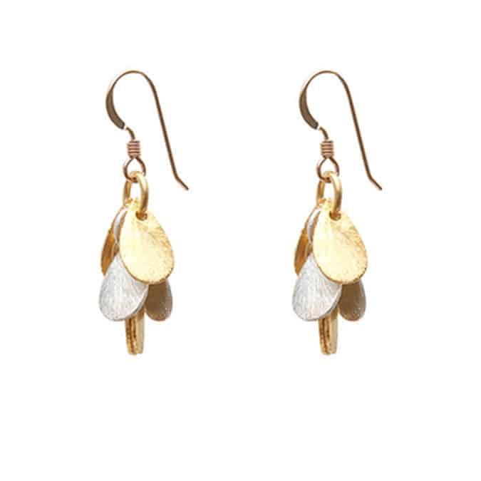 13541f8e5131e Leaf Clustered Brushed Earrings