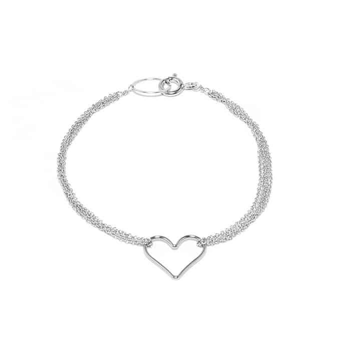 Home Bracelets Open Heart Bracelet Previous