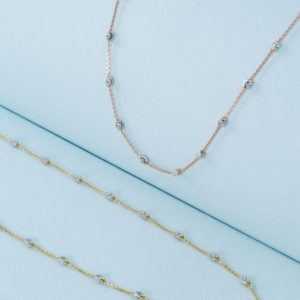 beaded 18K necklace