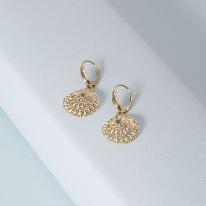 ce4f879f4640fb 14K Deco Burst Gold Earrings – KTCollection