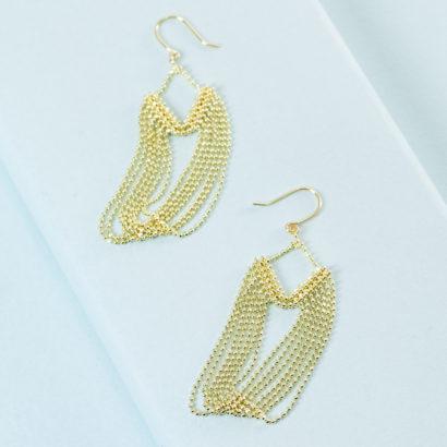 KTCollection handmade jewelry 18K Drape Earrings