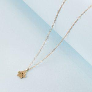14k paw necklace pendant