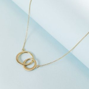 Gold double circle 14k