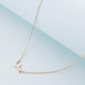 Golden cross necklace 14k