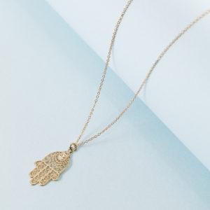 65059468ffdb91 14K Gold Matte Disc Necklace – KTCollection