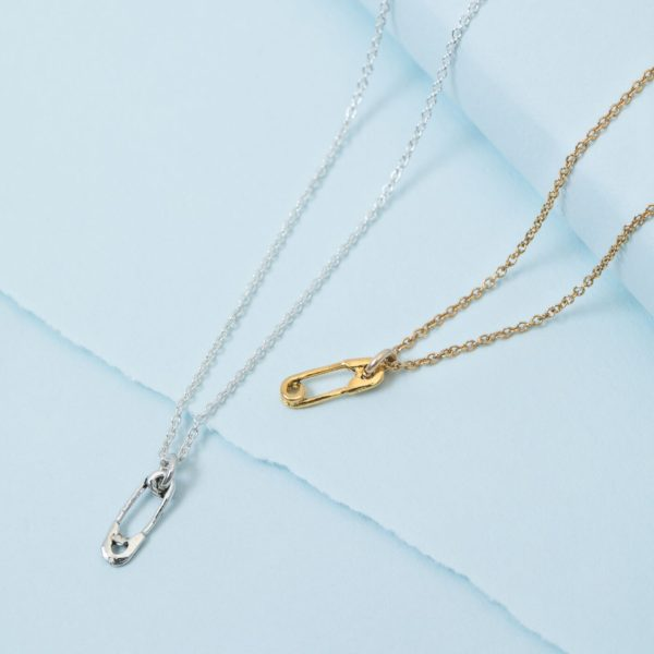 KTCollection Safety Pin necklace NYC jewelry