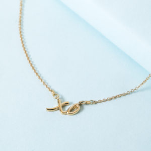 6ec4f3f9ec6baf ... 14K Solid Gold XO necklace by KTCollection NYC