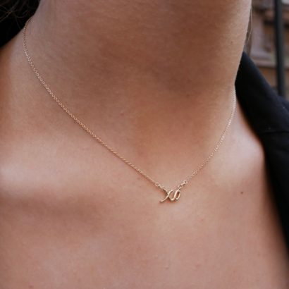 14K XO Necklace by KTCollection NYC Jewelry