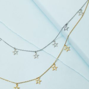 600f7dd1955dc6 KTCollection Open Star Necklace NYC Handmade Jewelry