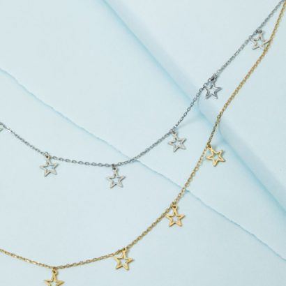 KTCollection Open Star Necklace NYC Handmade Jewelry