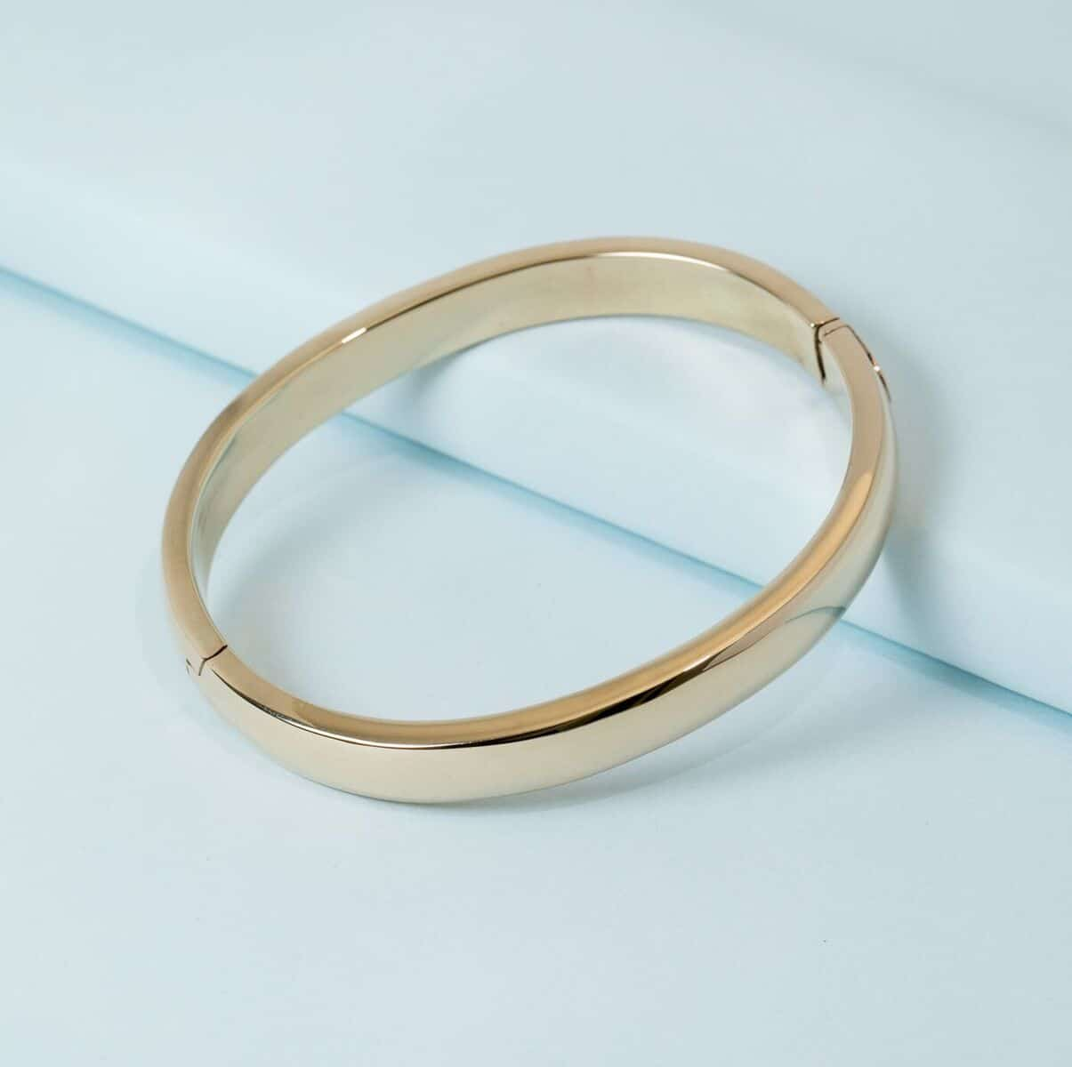 14k Solid Gold Bangle By Ktcollection Jewelry Nyc