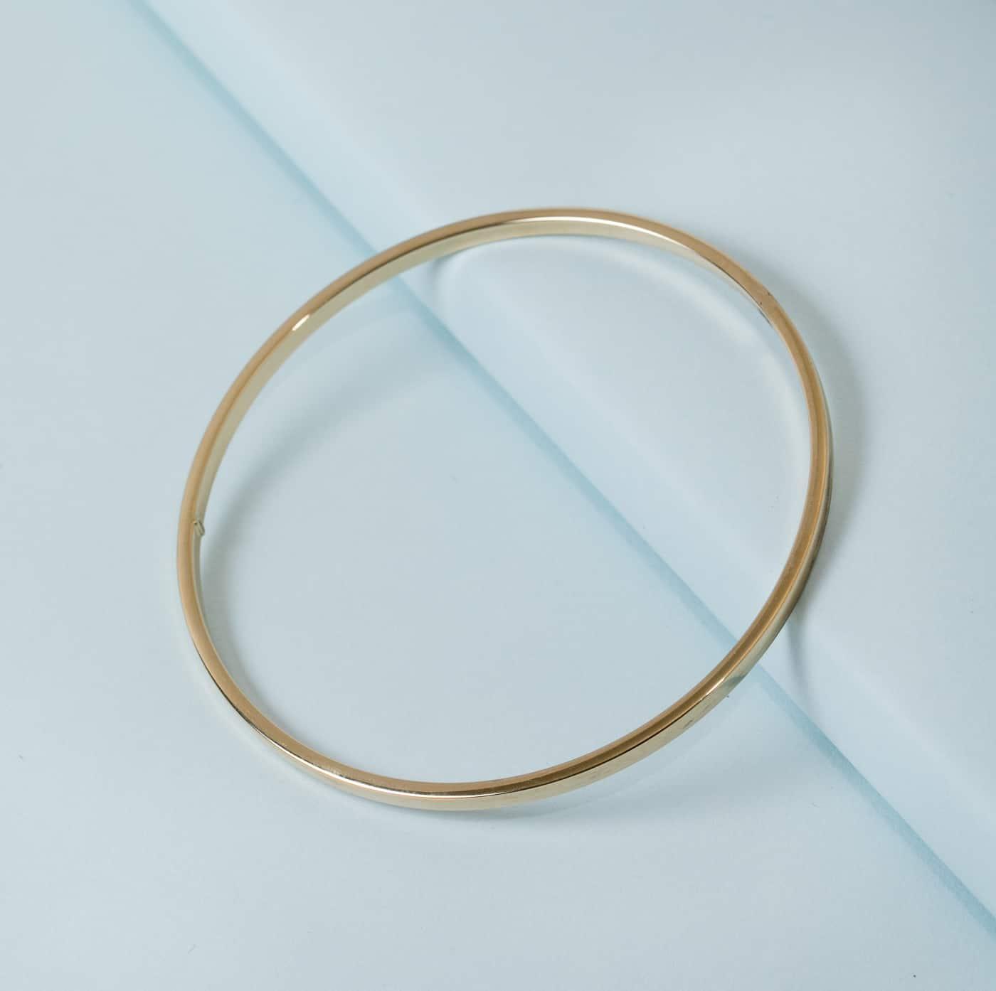 35d9641f9e7 14K Thin Bangle Bracelet Square – KTCollection