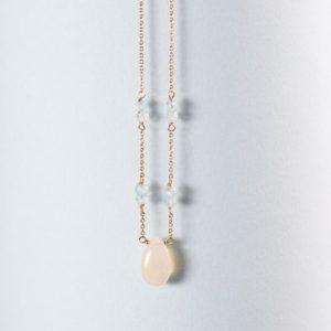 dabdeae7460712 14K Gold Matte Disc Necklace. $315.00. GN671. 14k opal aquamarine necklace